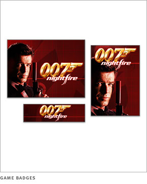 007 Nightfire game badges