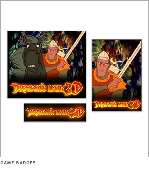 Dragon's Lair game badges