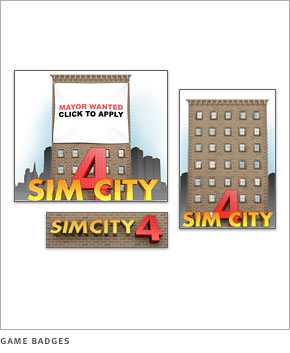 Sim City 4 game badges