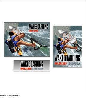 Wakeboarding game badges